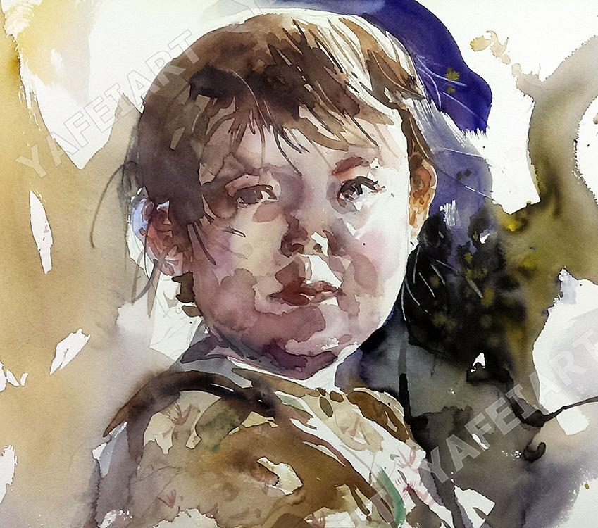 男孩肖像課堂示範
