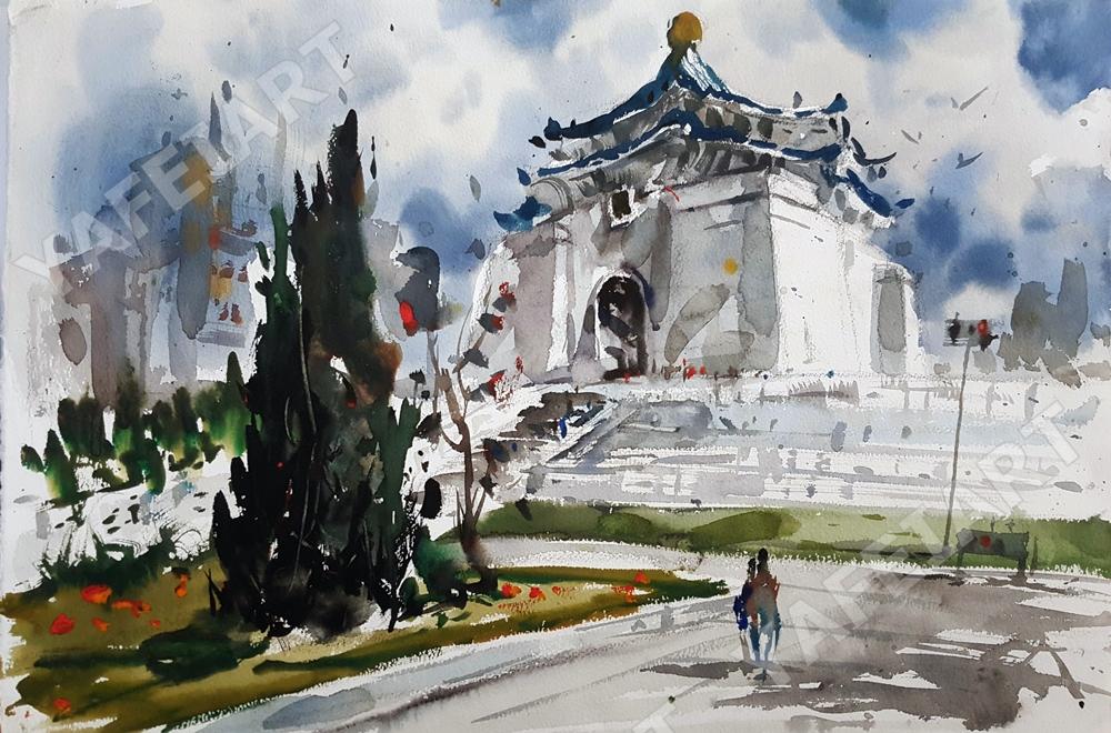 《中正紀念堂》寫生示範